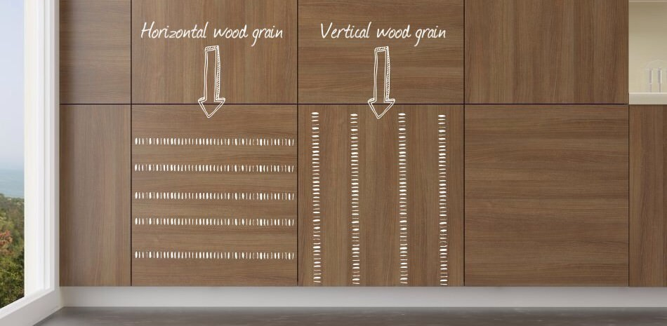Wall Panel Grain Orientation