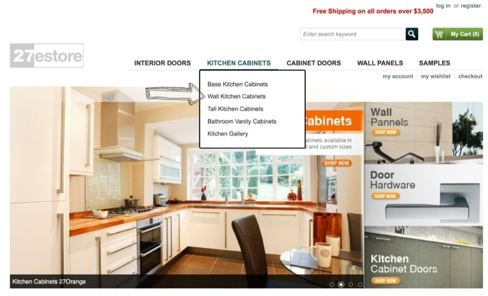 How To Order Kitchen Cabinets 27estore Com
