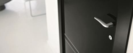 High gloss black doors