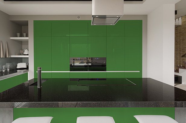 High Gloss Lacquered Cabinets