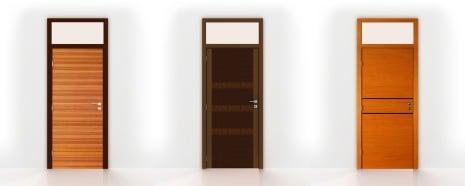 Interior transom doors