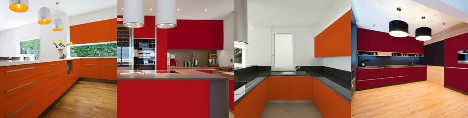 10 Red & Orange Cabinetry Design Ideas