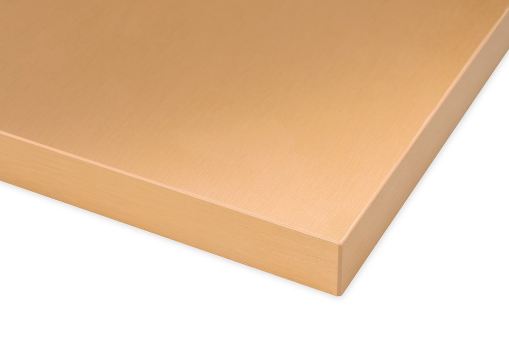 Brushed Copper Real Aluminum Surface