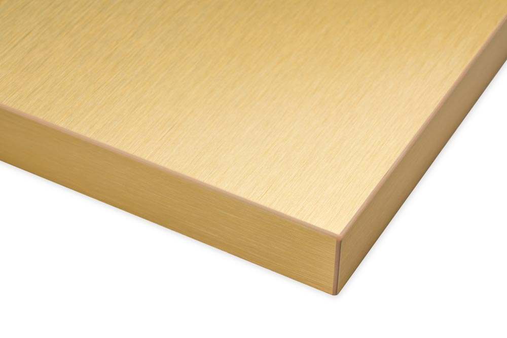 Brushed Gold Real Aluminum Surface