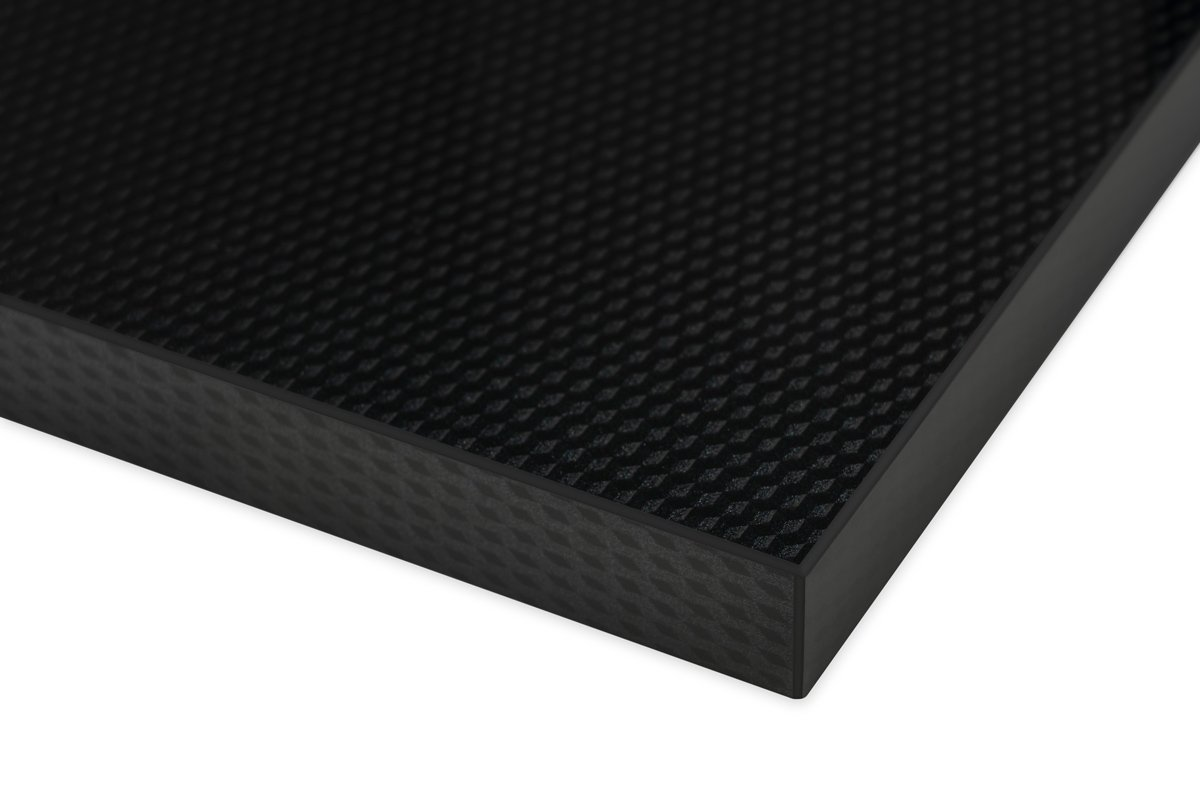 High Gloss 3D Cube Pattern Black