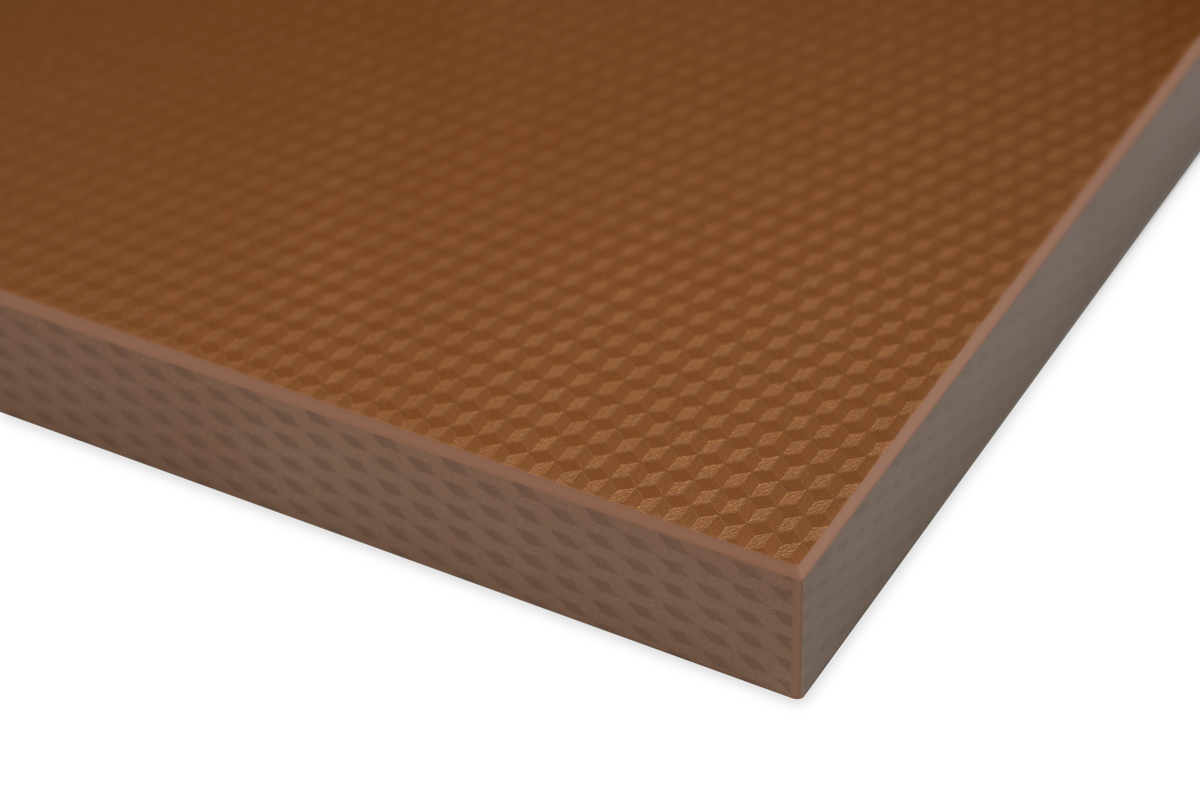 High Gloss 3D Cube Pattern Brown