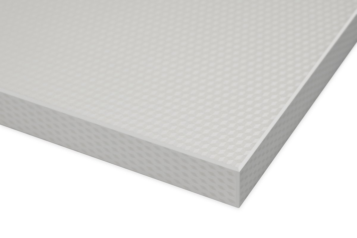 High Gloss 3D Cube Pattern White