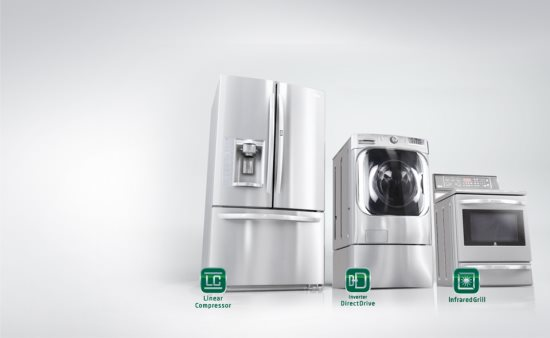 LG new appliances set