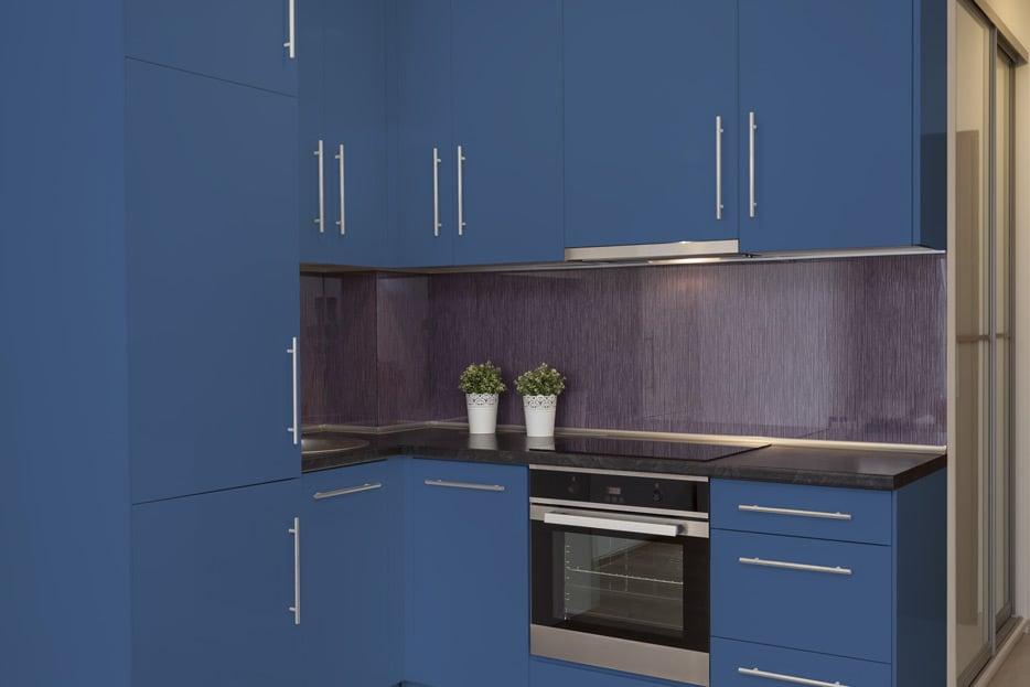 Ultramarine blue kitchen cabinets