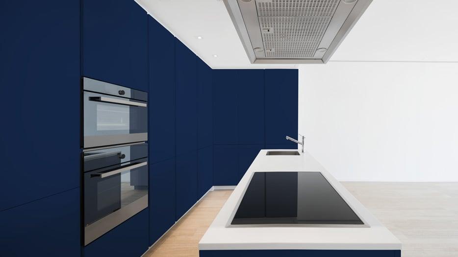 Sapphire Blue kitchen cabinets