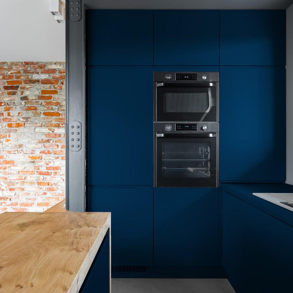 Night Blue kitchen cabinets