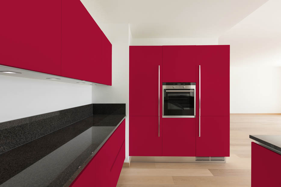 Resberry Red Kitchen