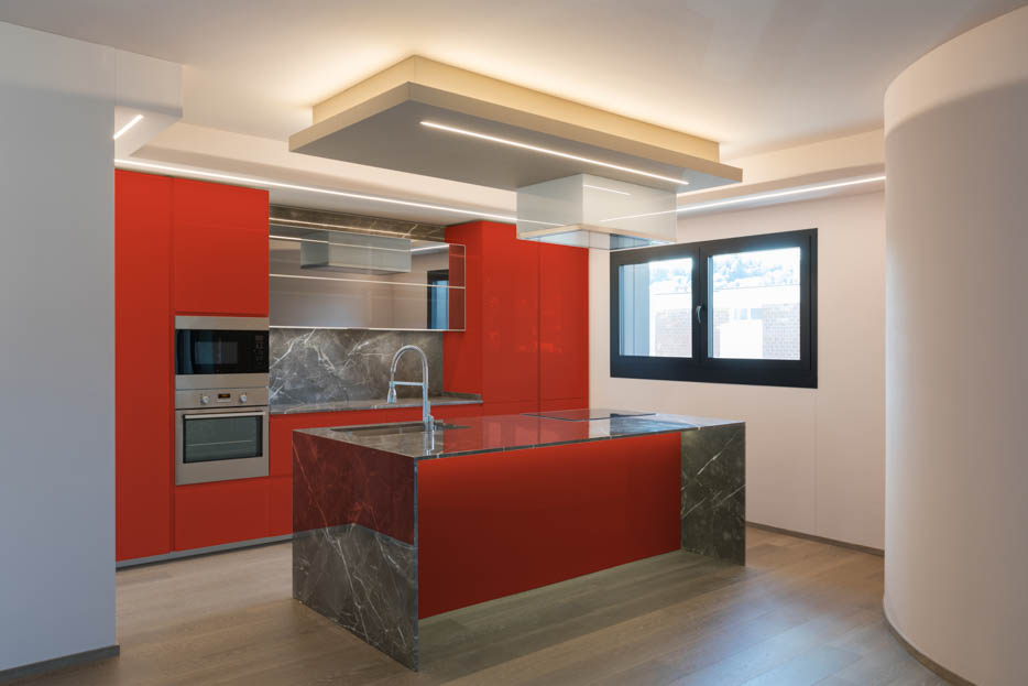 Pure Red Kitchen
