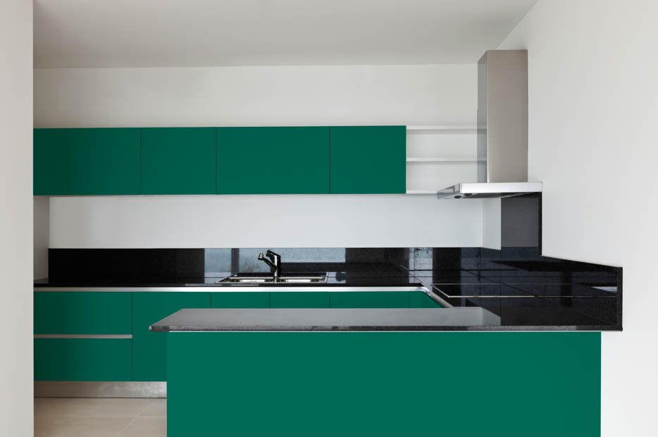 Patina Green Kitchen Cabinets