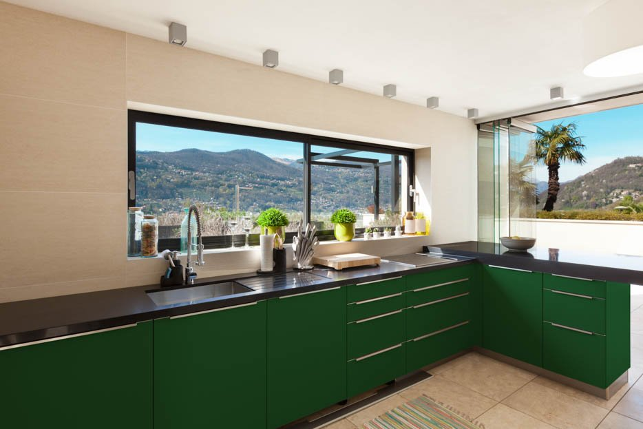 Emerald Green Kitchen Design