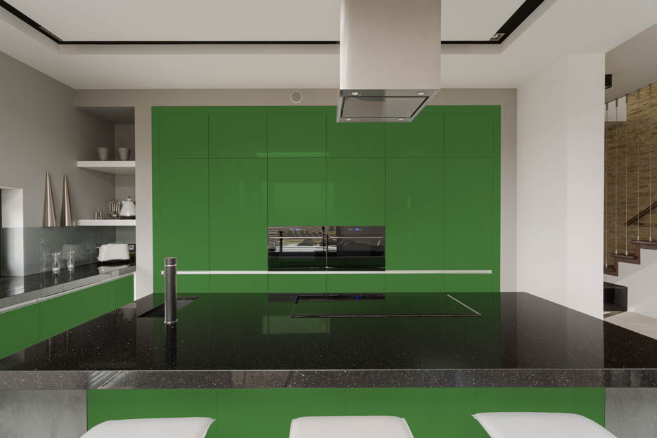 May Green Kitchen Cabinet Layout