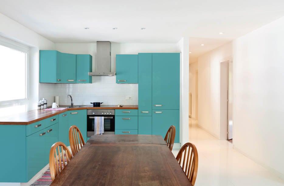 Pastel Turquoise Kitchen