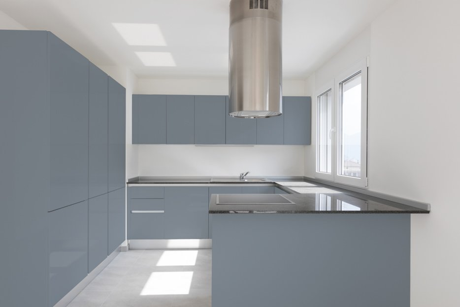 Integrated C And L Handles No Door Pulls Kitchen Cabinet Design Solution