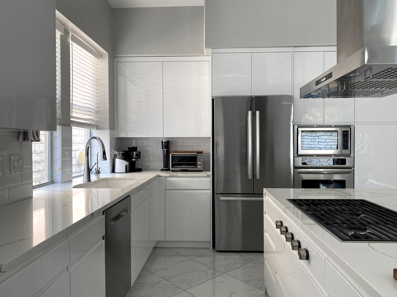 RAL 9003 Signal White High Gloss Kitchen Cabinets