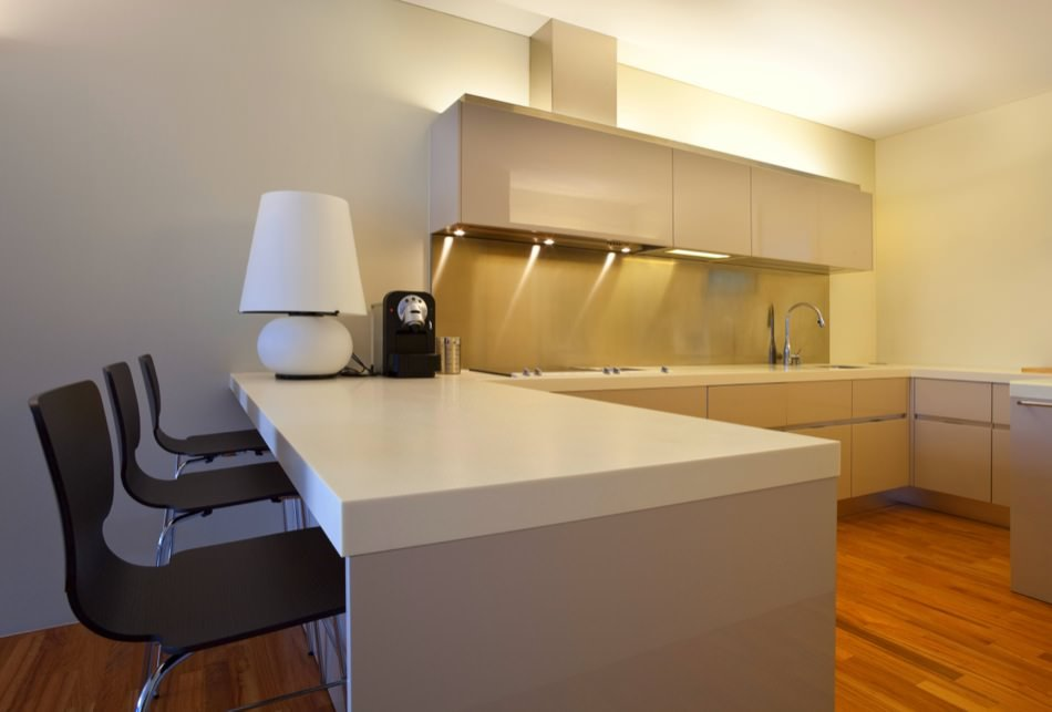 RAL 1015 Light Ivory High Gloss Kitchen Cabinets