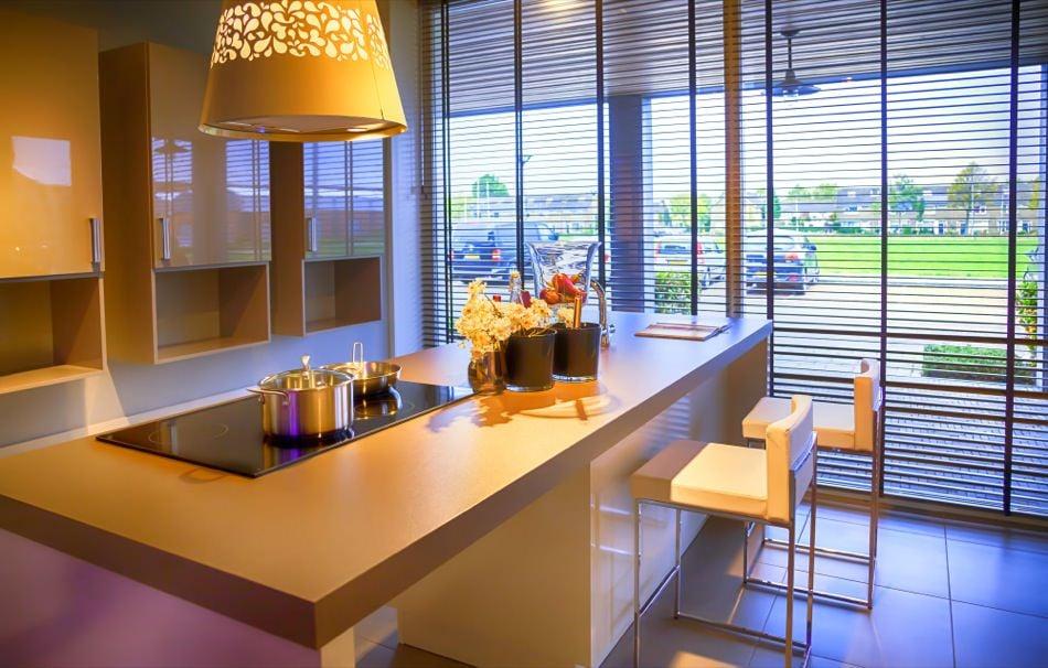 RAL 1033 Dahlia Yellow High Gloss Kitchen Cabinets
