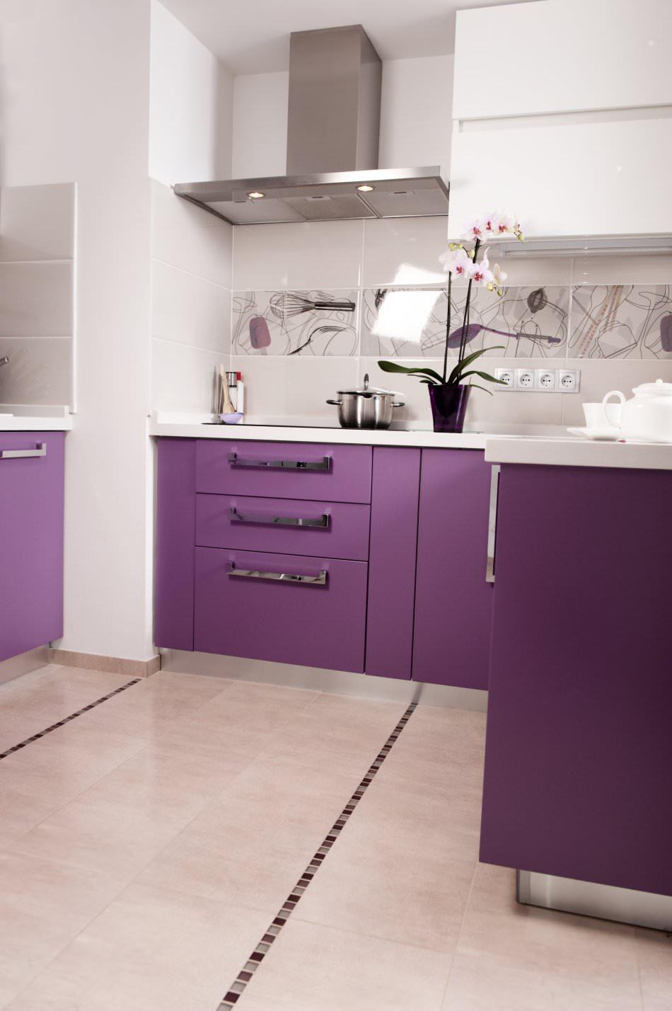RAL 4008 Signal Violet Matte Kitchen Cabinets