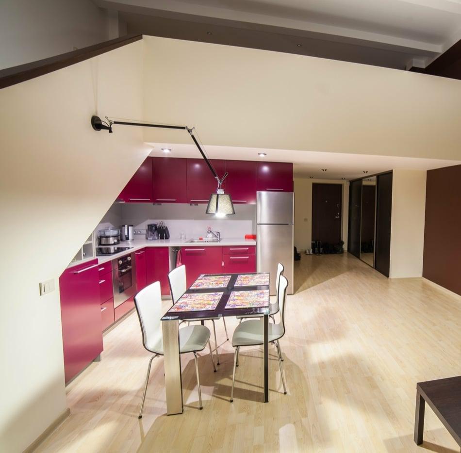 RAL 4010 Telemageta Matte Kitchen Cabinets