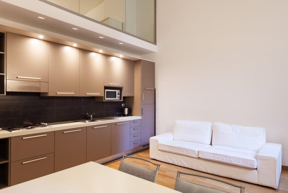 RAL 8024 Beige Brown Matte Kitchen Cabinets