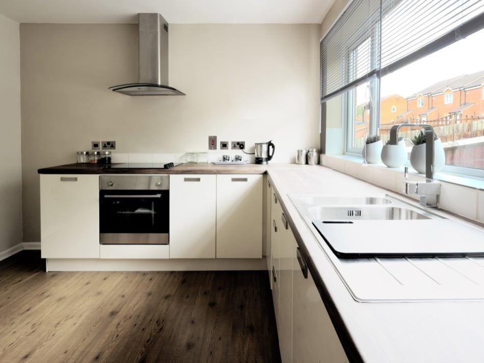 RAL 9010 Pure White Matte Kitchen Cabinets