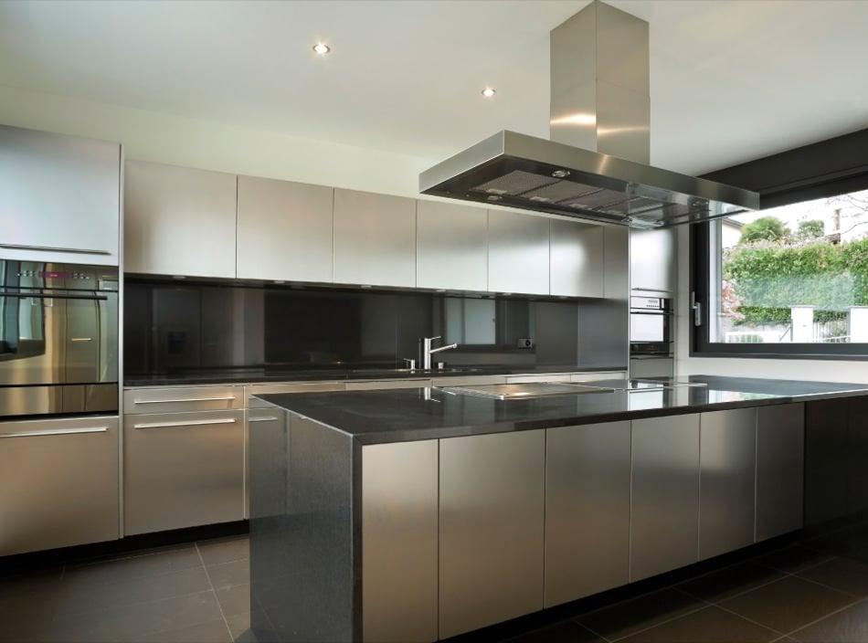 RAL 9006 White Aluminum Matte Kitchen Cabinets