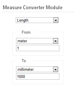 Custom Unit converter