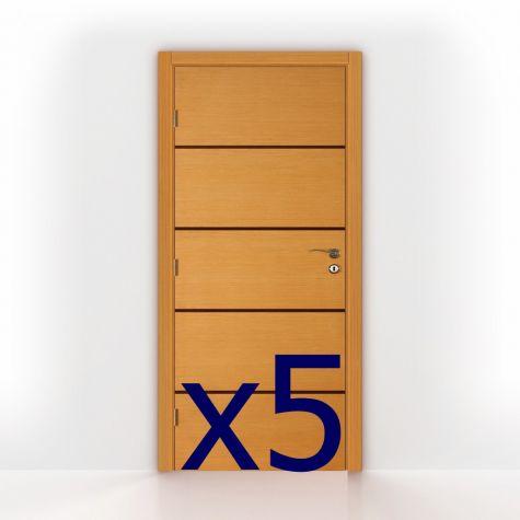 """Package 1 - 5x Interior Doors 80"""" high"""