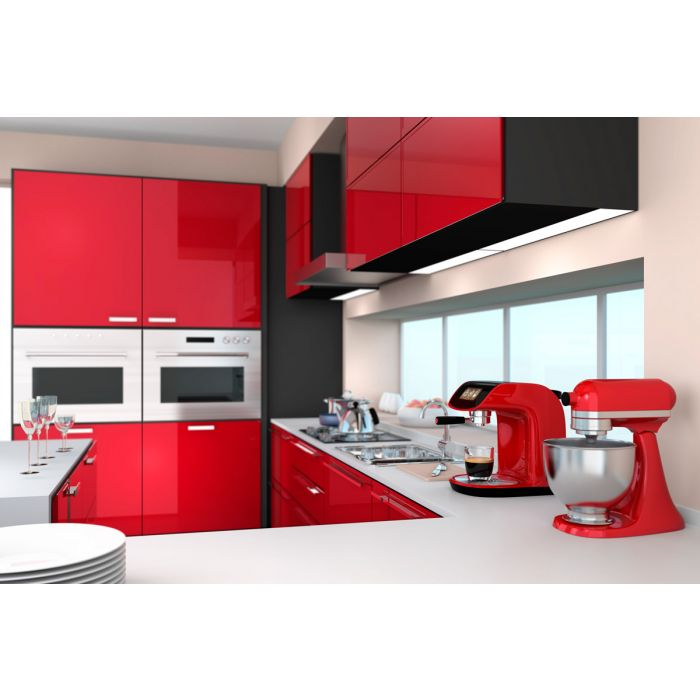 High Gloss Polyester Red Cabinet Doors