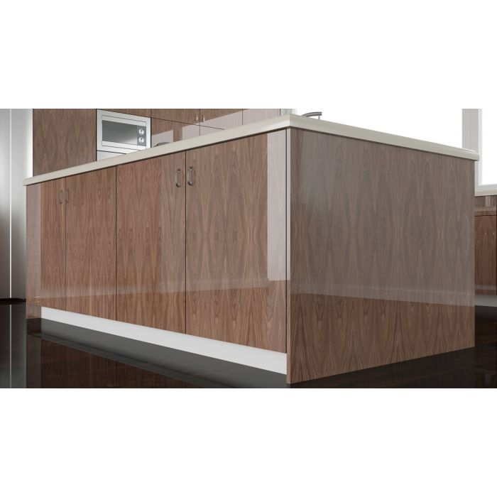 High Gloss European Walnut Wood Veneer Cabinet Doors