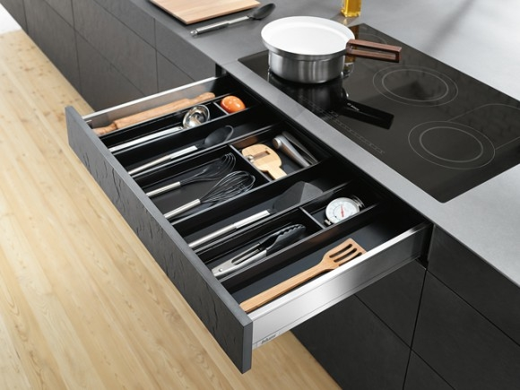 Blum Legrabox with Ambia line organizers