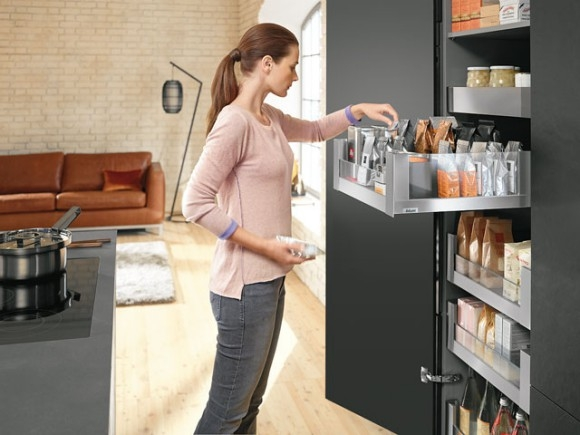 Blum Legrabox pantry solution