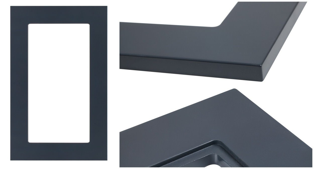Model Glass ready frame - shown in RAL 7024 Graphite Grey