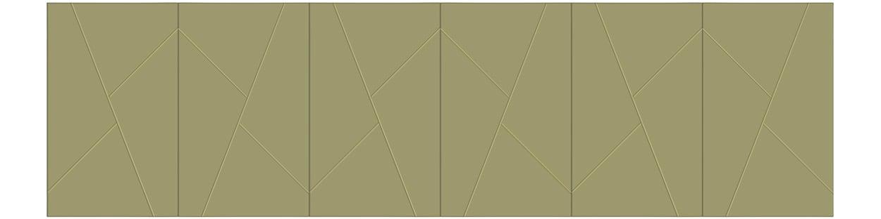 Model #### - Shown in a 6 Door Configuration