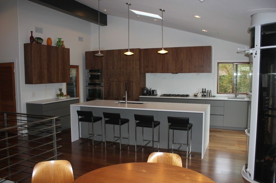 RAL 7039 Quartz Grey Matte Kitchen Cabinets
