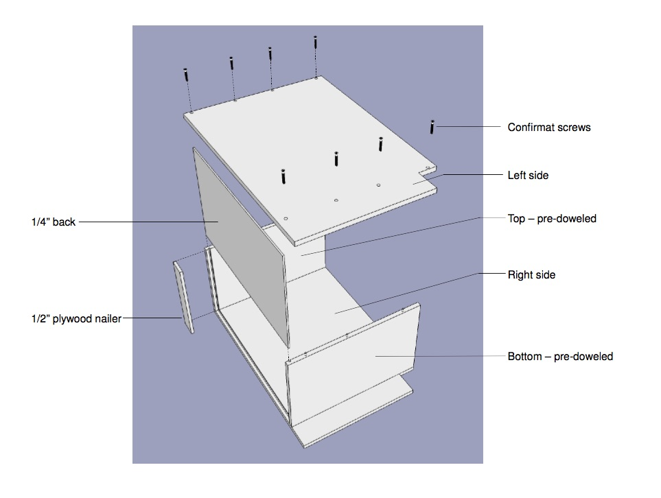 Cabinet Assembly Diagram