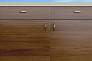 Dark Italian Walnut Cabinet Doors