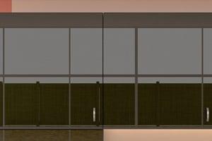 High Gloss Polyester Dark Linen Cabinet Doors