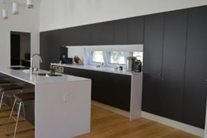 Matte Polyester Anthracite Cabinet Doors