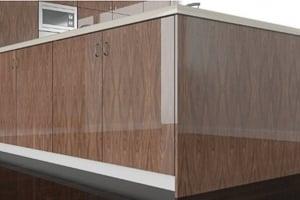 High Gloss European Walnut Cabinet Doors