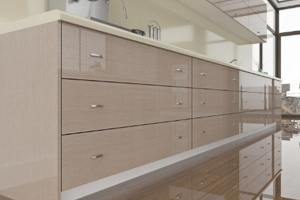 High Gloss Grey Ayous Cabinet Doors
