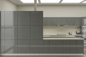 High Gloss Grey Oak Cabinet Doors