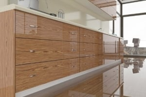 High Gloss RoseWood Cabinet Doors by 27estore