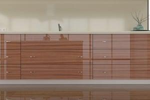 High Gloss Sapele Mahogany Cabinet Doors