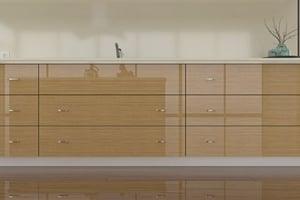 High Gloss Teak Cabinet Doors