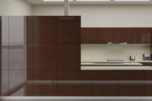 High Gloss Wenge Graphite Cabinet Doors